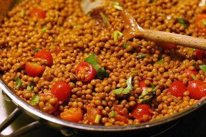 recetas lentejas con semillas de girasol