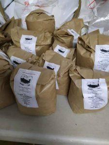 legumbres preparadas para el envío